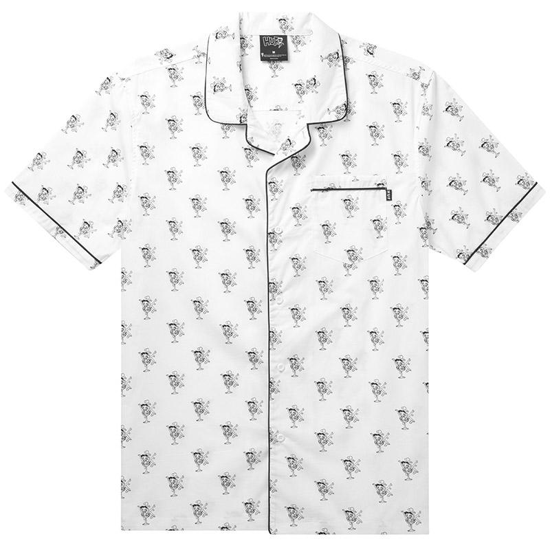 HUF X Betty Boop Pajama Shirt White