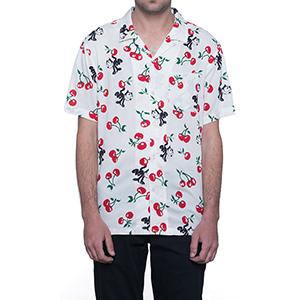 HUF X Felix The Cat Cherry Woven Shirt Natural