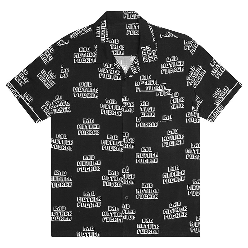 HUF X Pulp Fiction Bad Mf Woven Top Shirt Black