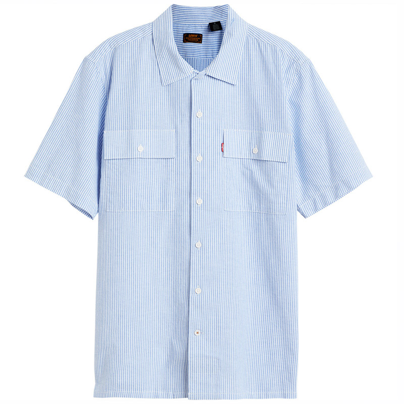 Levi's Skate Button Down Shirt Haus Stripe Blue/White