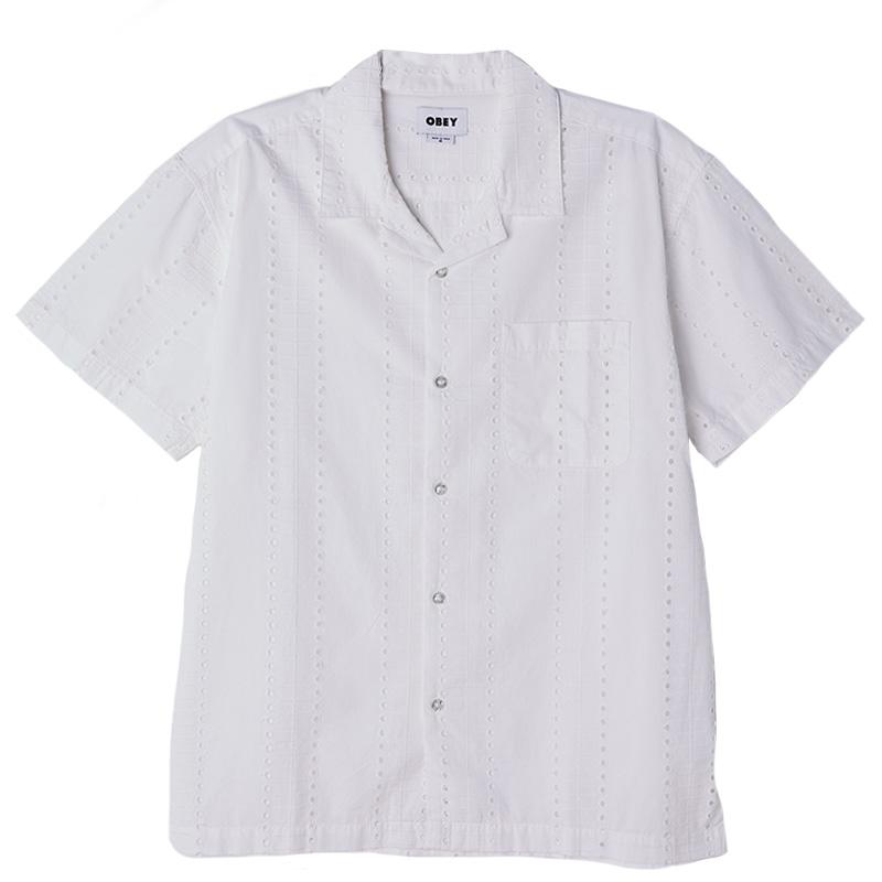 Obey Baxter Woven Shirt White