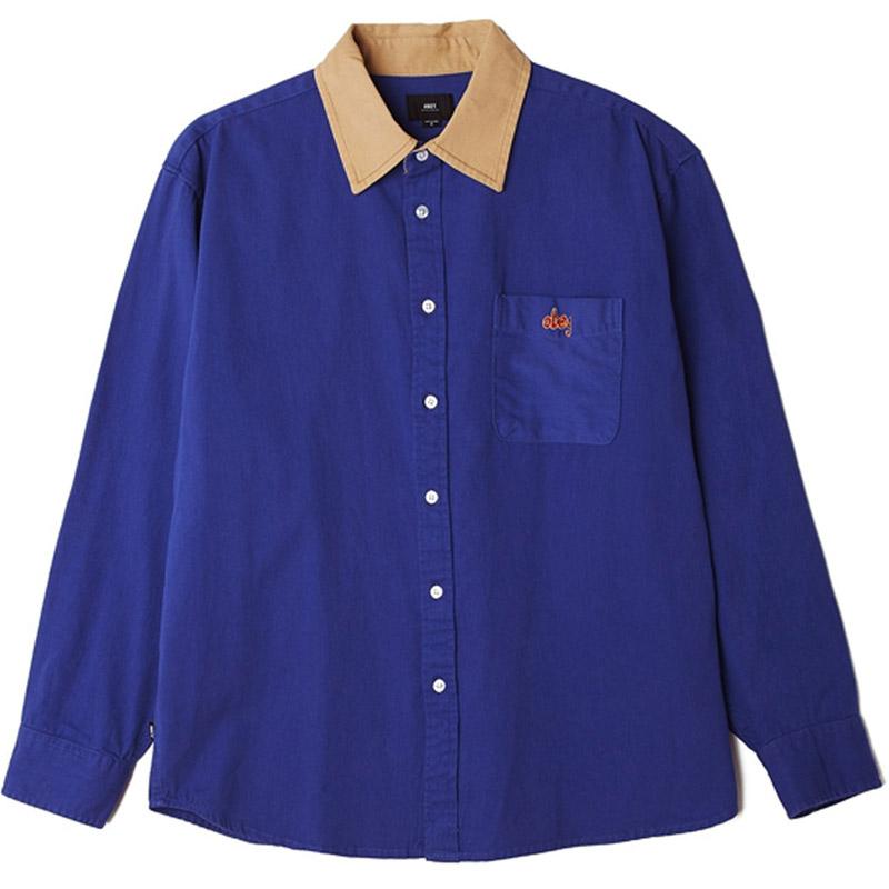 Obey Caleb Denim Woven Shirt Ultramarine