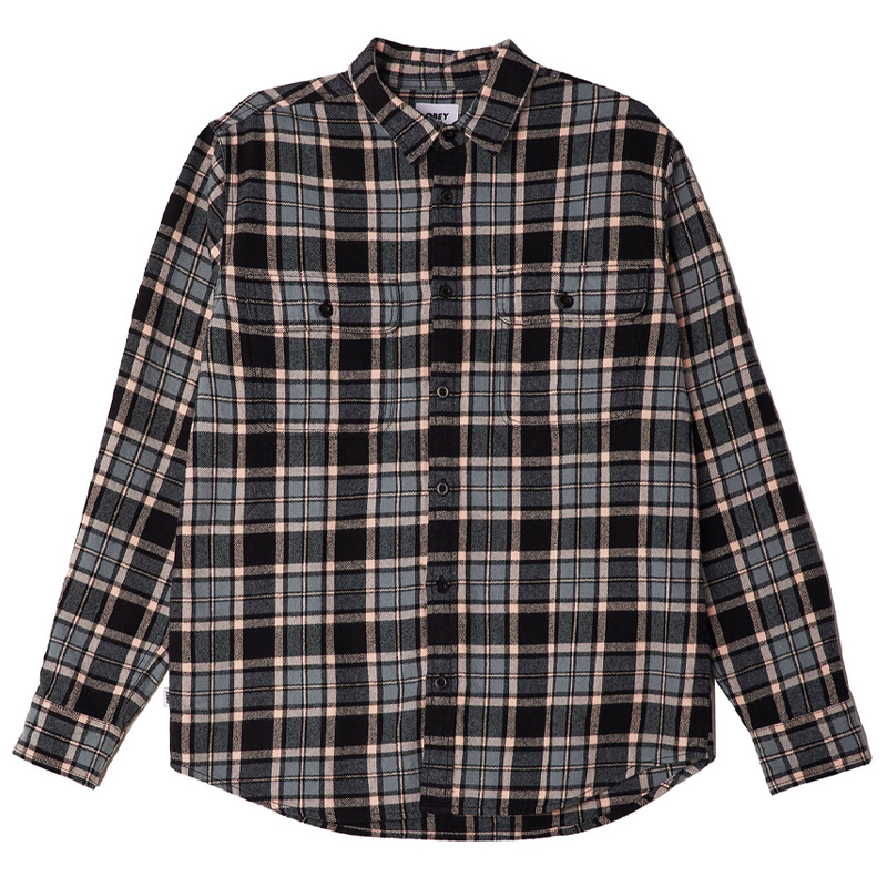 Obey Divisions Woven Shirt Black Multi