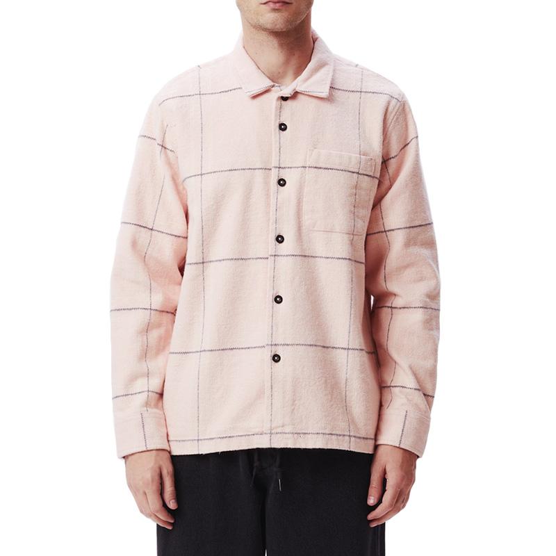 Obey Fiasco Woven Shirt Pink Multi