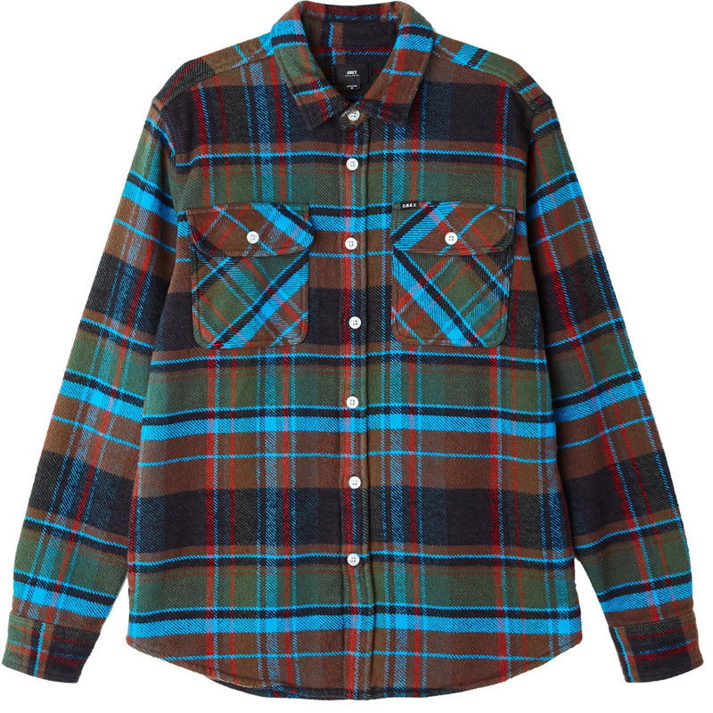 Obey Homebound Woven Shirt Black Forest Multi