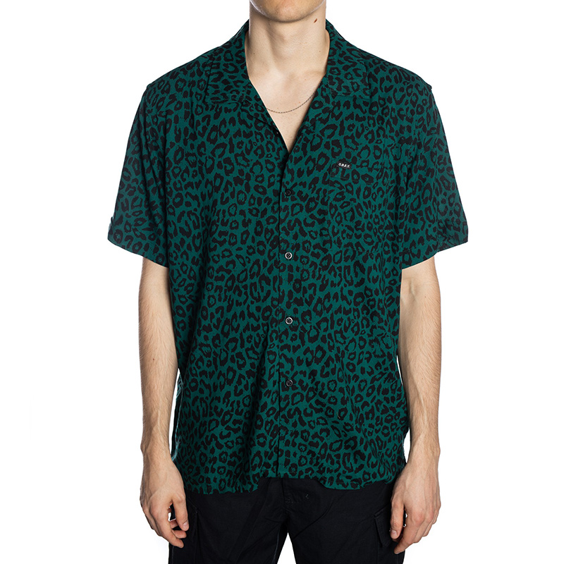Obey Leo Woven Shirt Blue Green Multi