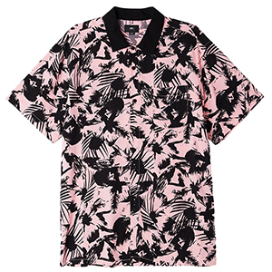 Obey Nate Woven Shirt Pink Multi