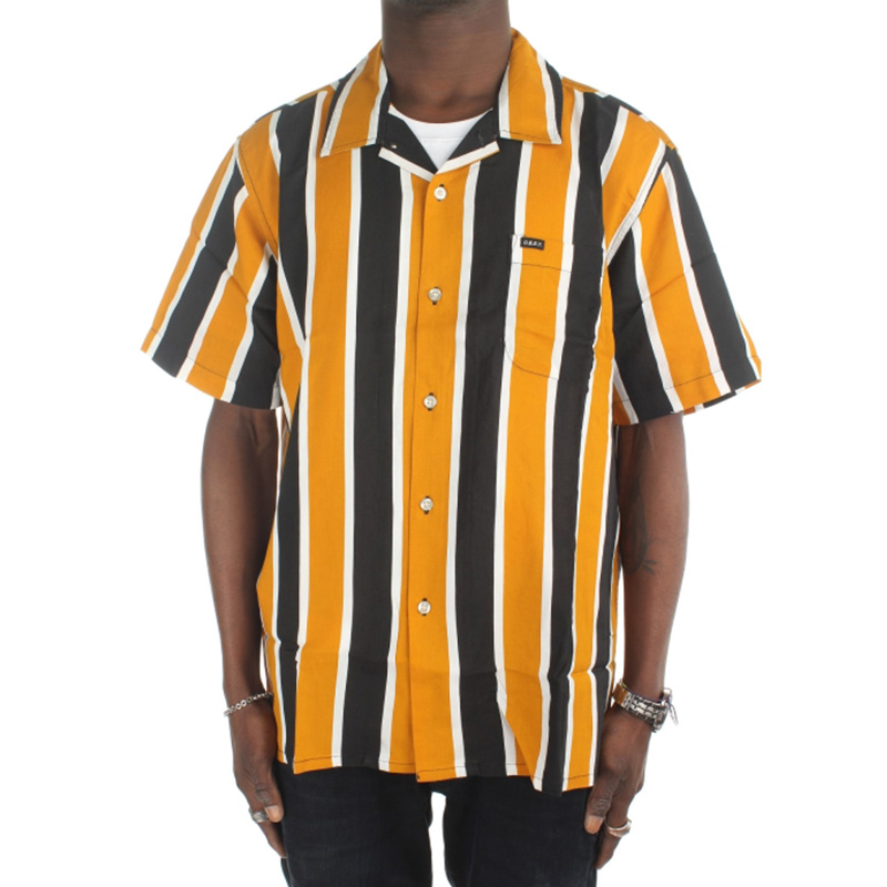 Obey Sutter Stripe Woven Shirt Mineral Yellow Multi
