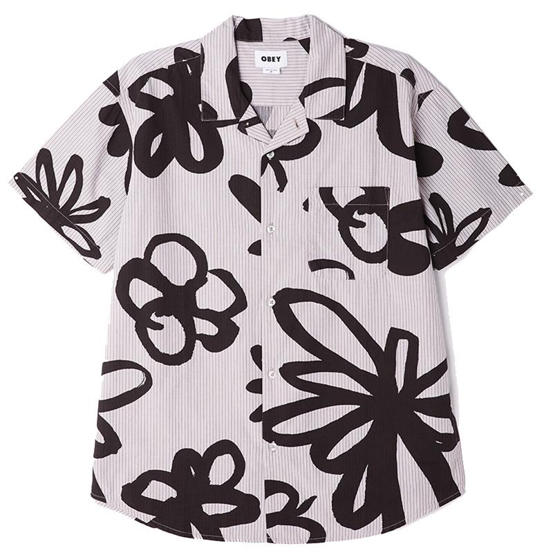 Obey Tommy Woven Shirt Gallnut Multi