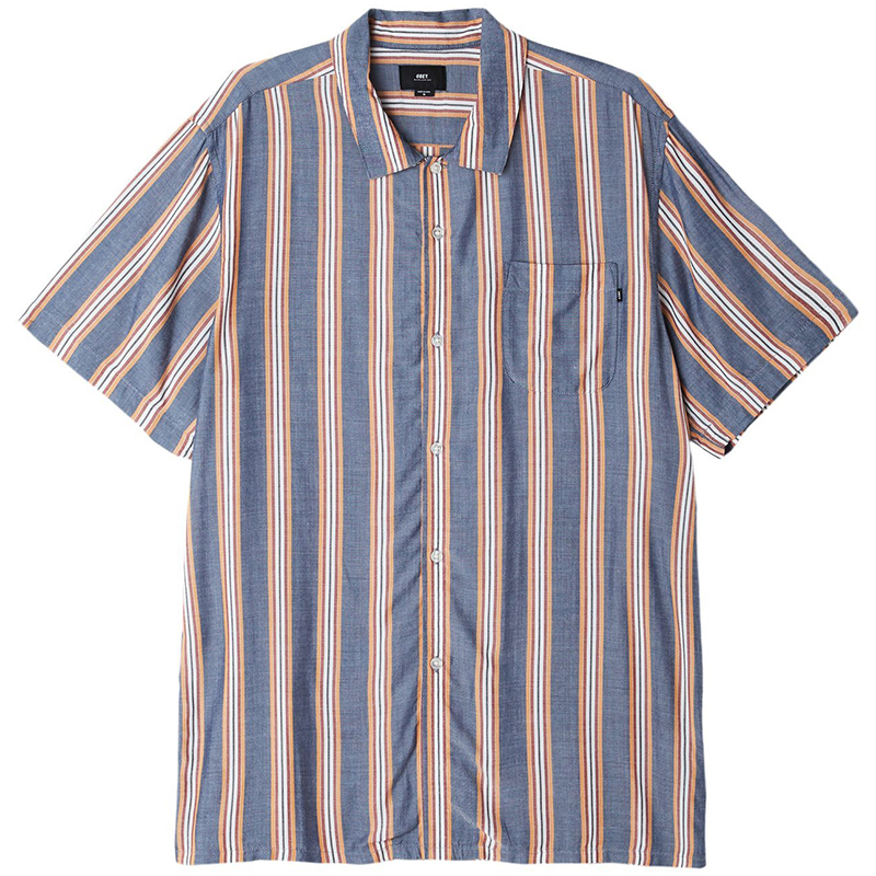 Obey York Woven Shirt Ahier Heather navy multi
