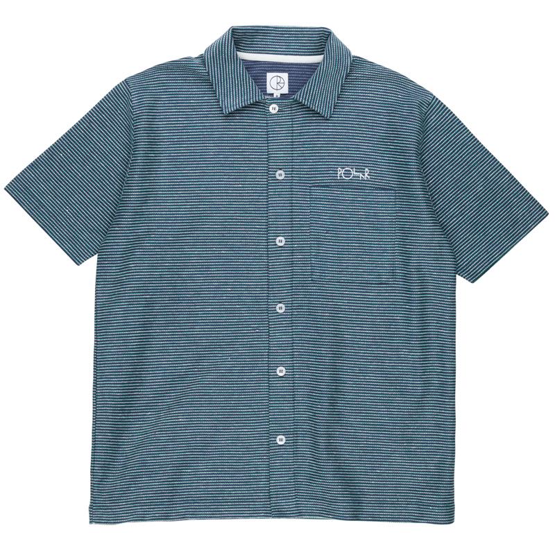 Polar Patterened Shirt Stripe Navy/Green