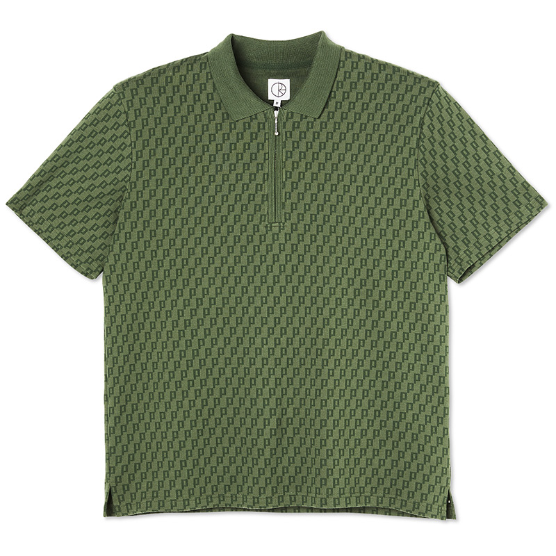 Polar Zip Pique Shirt Hunter Green