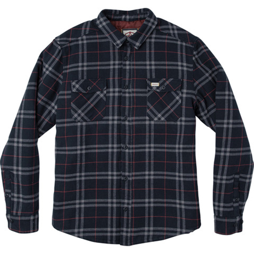 RVCA AR Plaid Shirt Navy