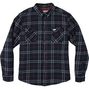 RVCA AR Plaid Shirt Navy