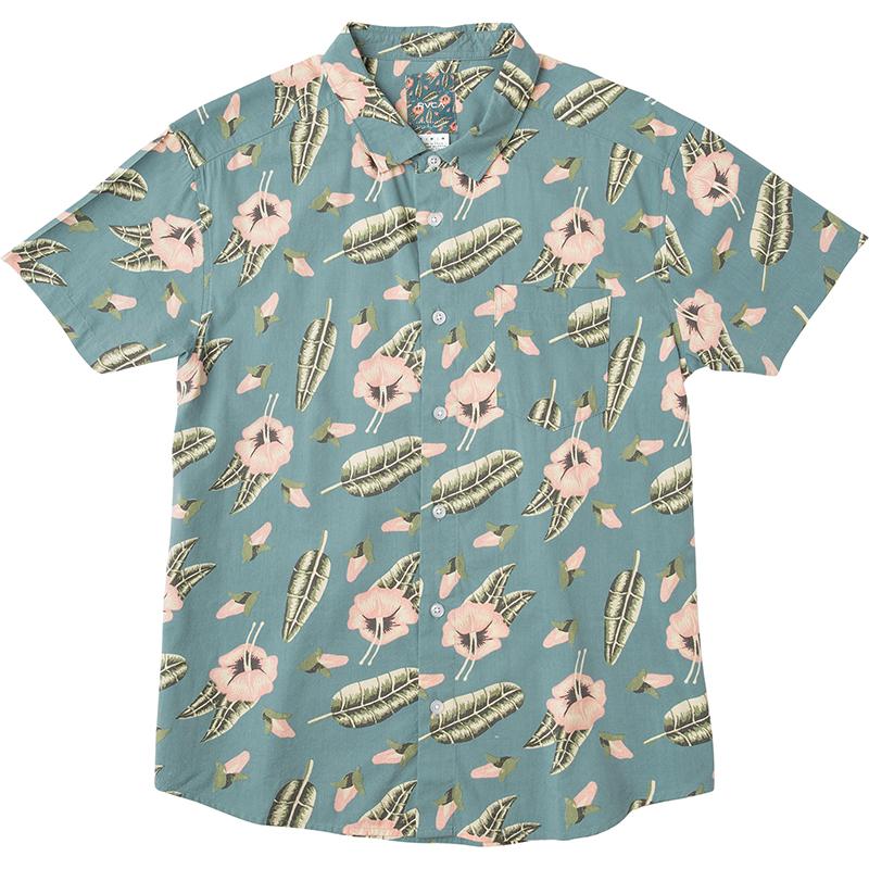 RVCA Pelletier Tropic Shirt Blue