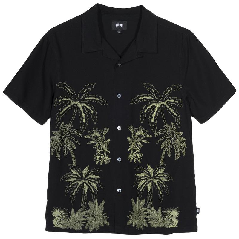 Stussy Palm Tree Shirt Black