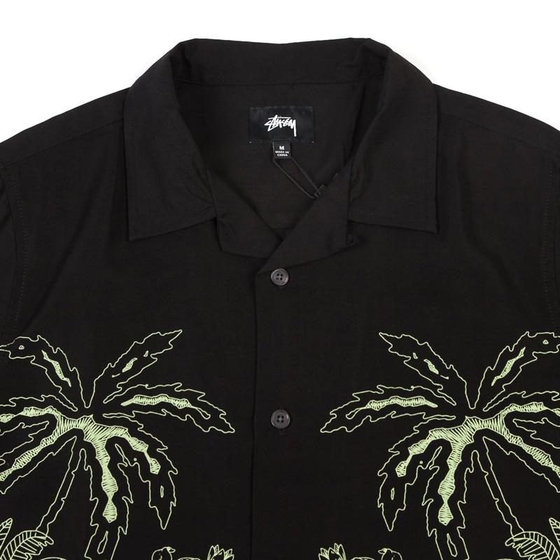 f9e5e5e1389701 Stussy Palm Tree Shirt Black. undefined. Loading zoom