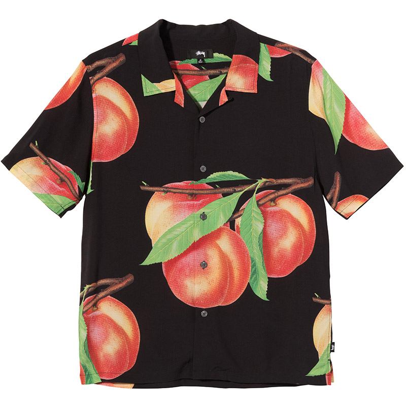 Stüssy Peach Pattern Shirt Black