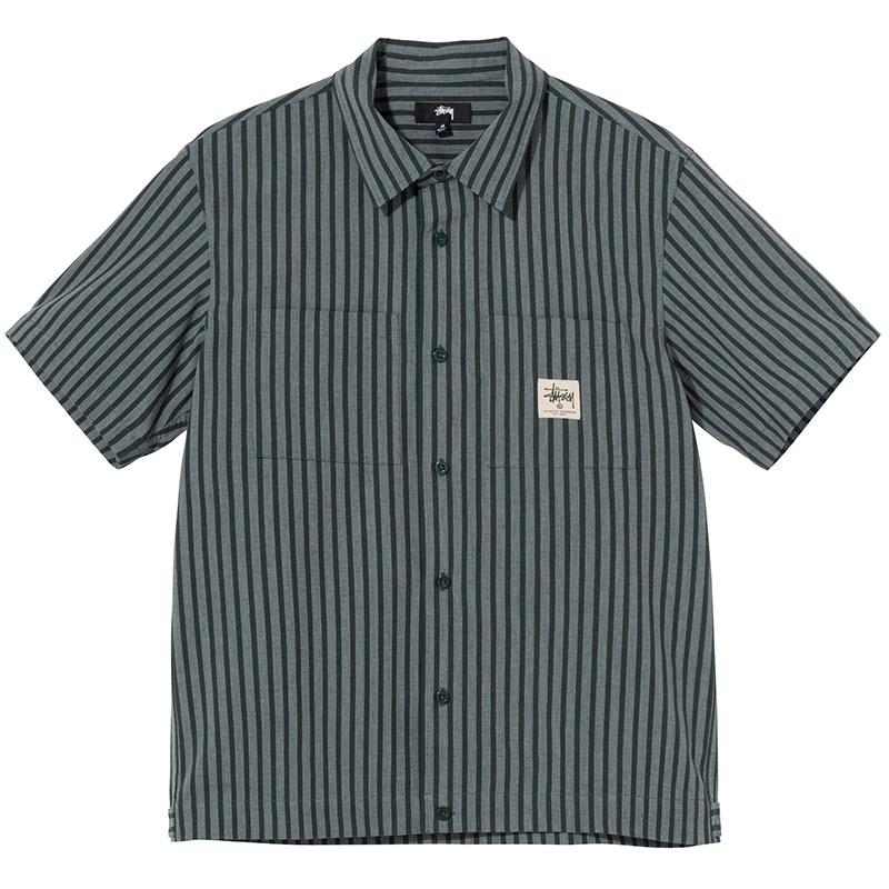 Stussy Striped Garage Shirt Stripe