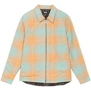 Stussy Zip Up Plaid Shirt Blue