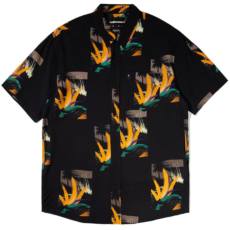 The Hundreds Dotty Woven Shirt Black
