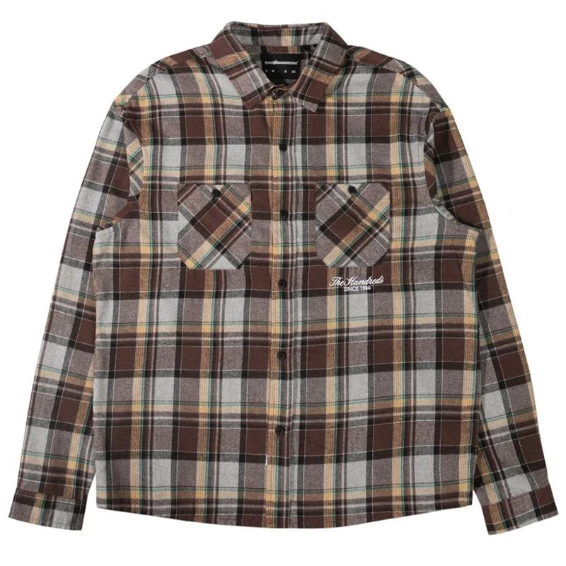 The Hundreds Kennedy Longsleeve Woven Shirt Brown
