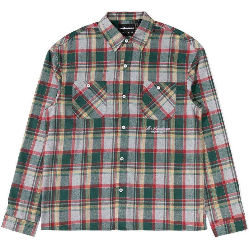 The Hundreds Kennedy Longsleeve Woven Shirt Hunter Green
