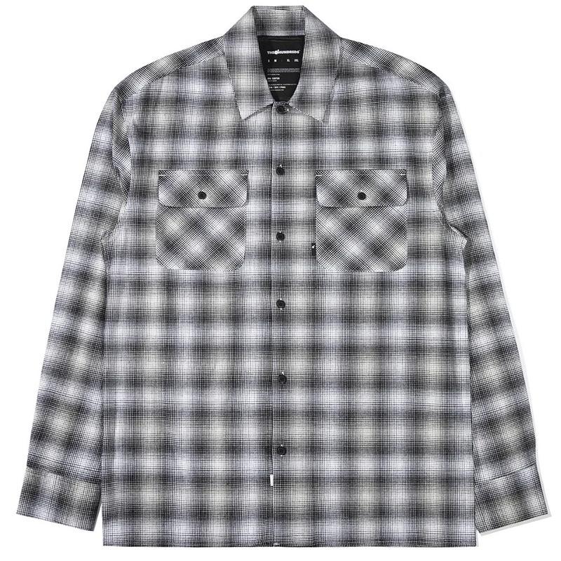The Hundreds Mills Longsleeve Woven Shirt Black/White