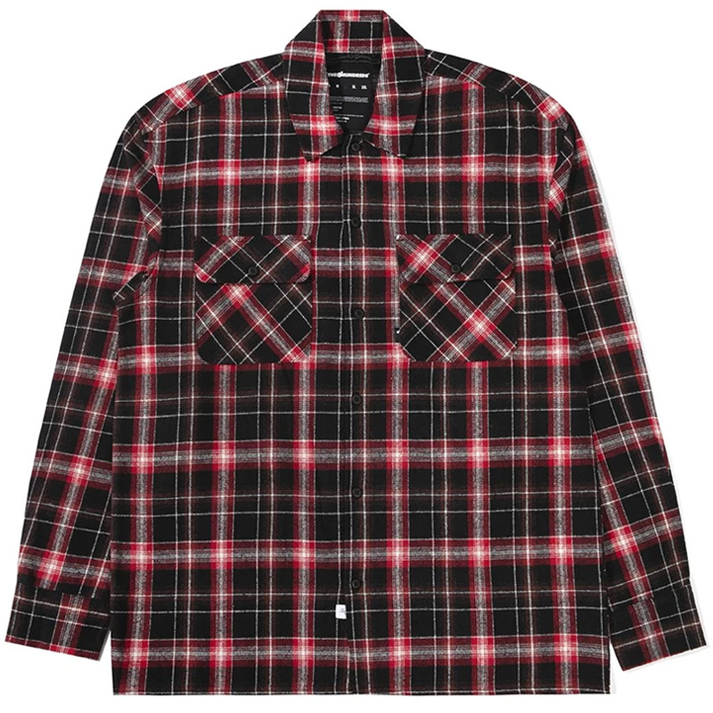 The Hundreds Mills Longsleeve Woven Shirt Red