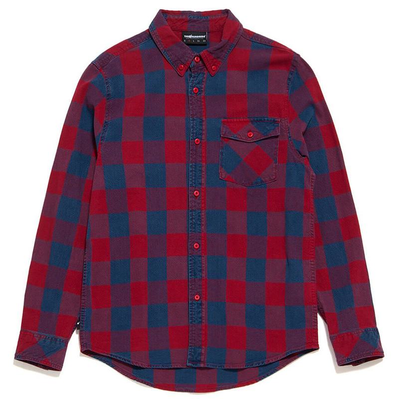 The Hundreds Ridge Longsleeve Shirt Woven Red
