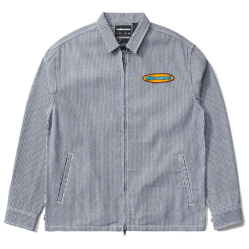 The Hundreds Roosevelt Longsleeve Woven Shirt Navy Stripe