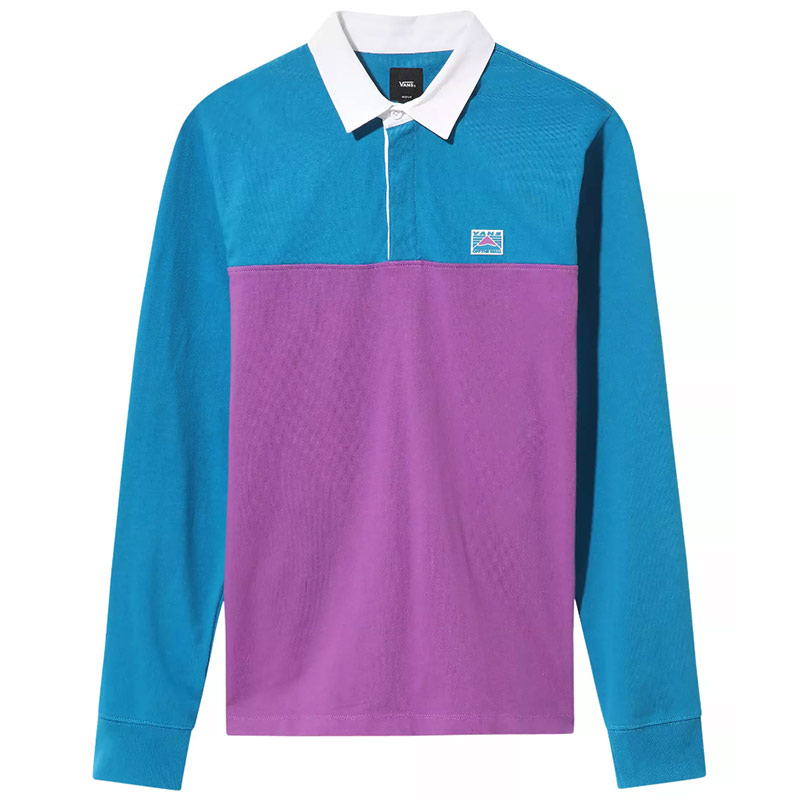 Vans Hi-Point Colorblock Rugby Shirt Turkish Tile/Dewberry