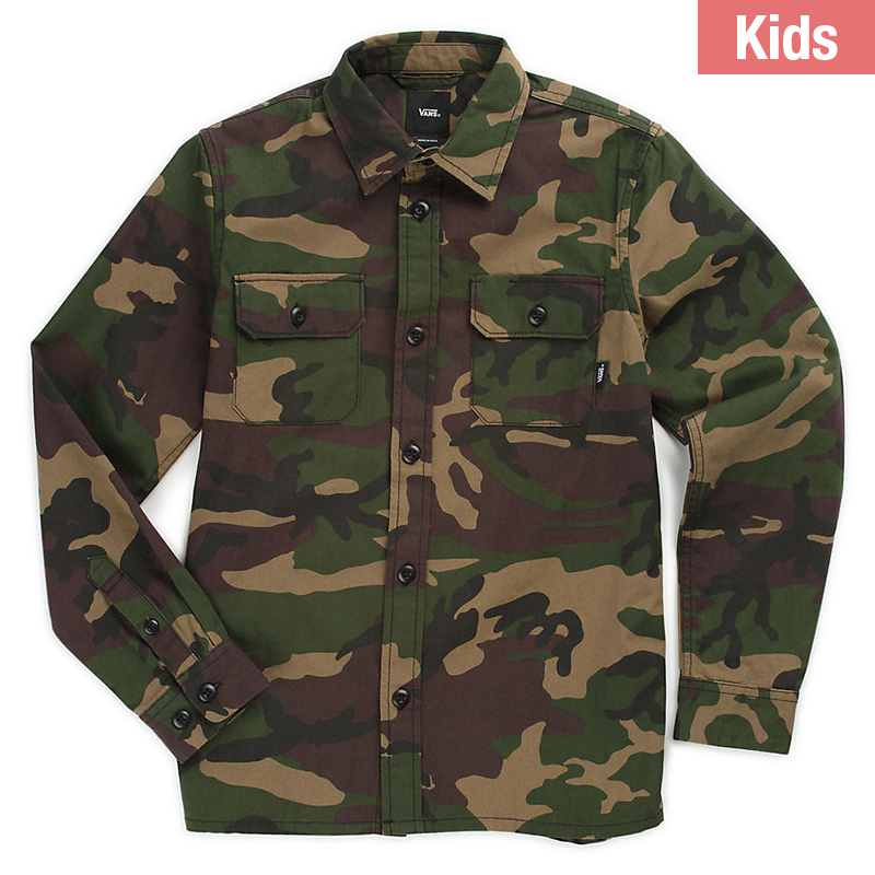 Vans Kids Arlington Shirt Camo