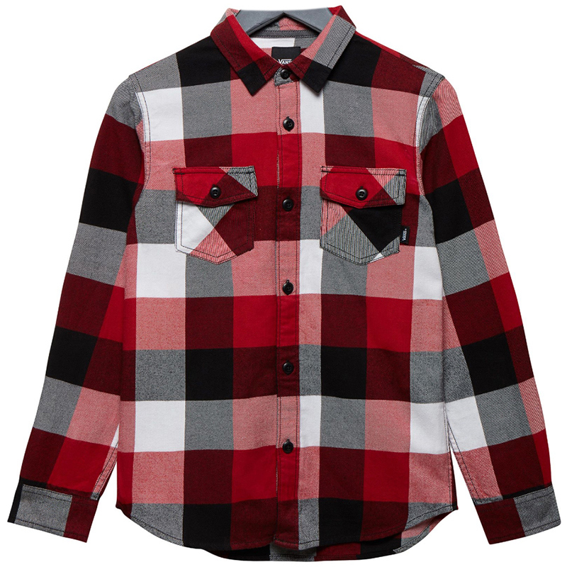 Vans Kids Box Flannel Shirt Chili Pepper/Black
