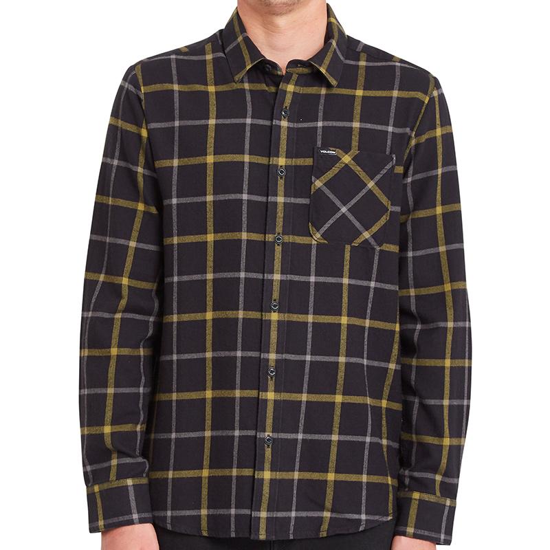 Volcom Caden Plaid Shirt Black