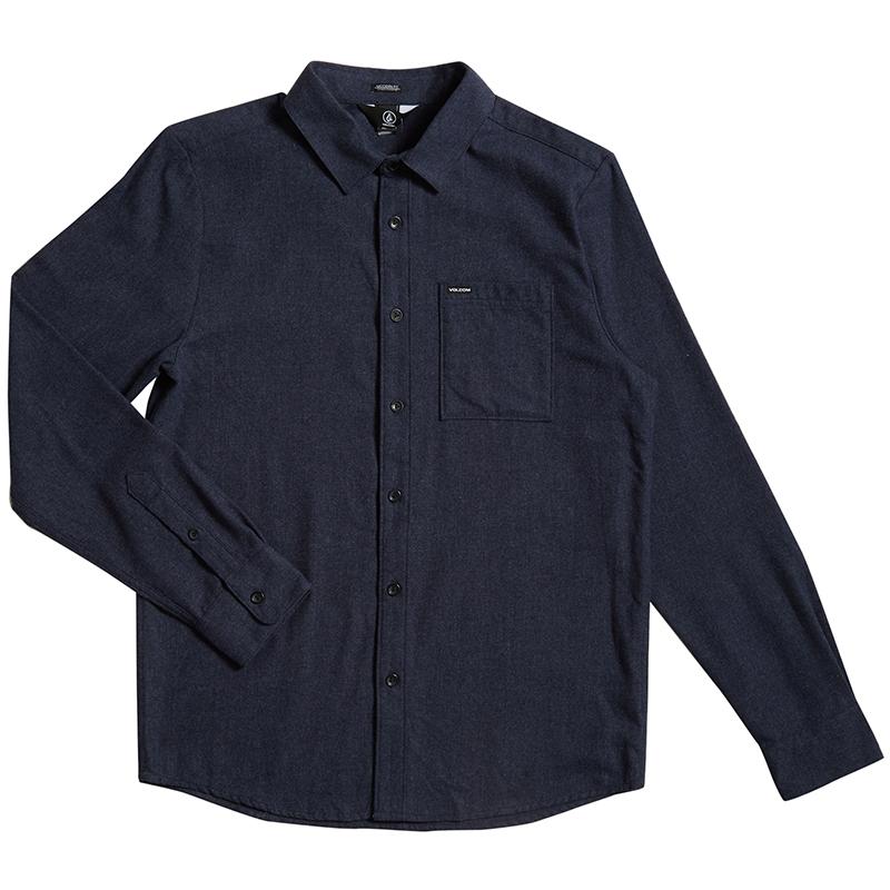 Volcom Caden Solid Shirt Midnight Blue