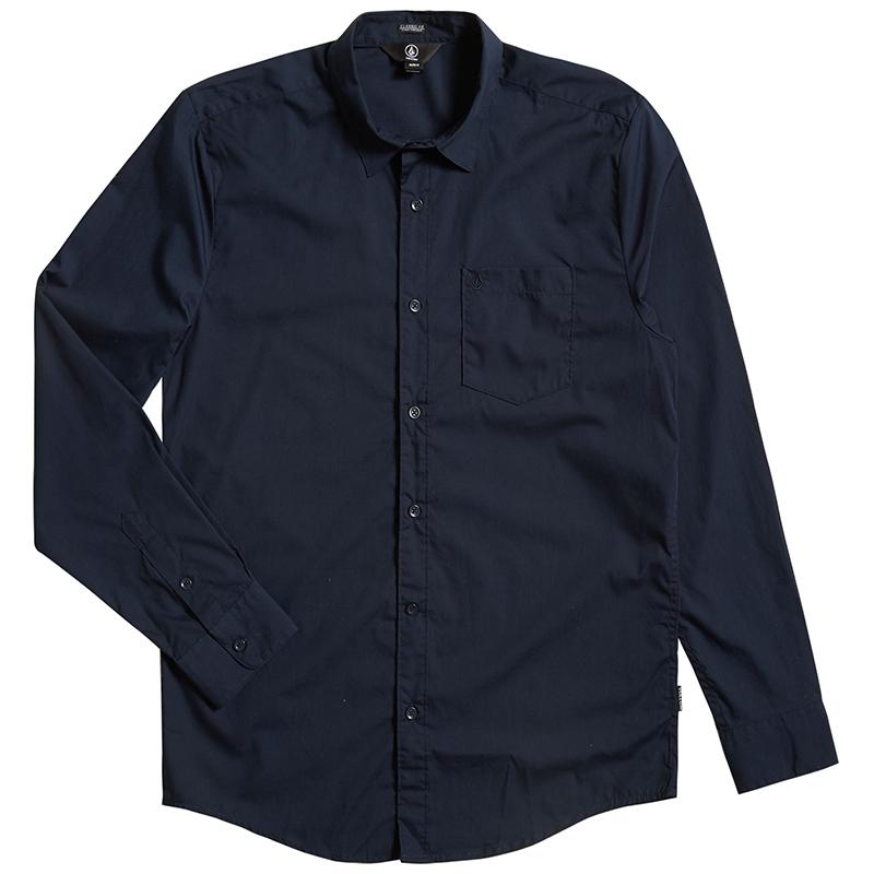 Volcom Everett Solid Shirt Navy