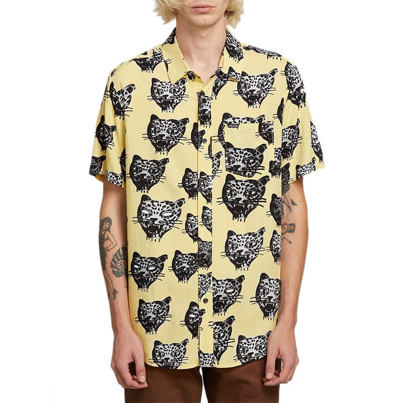 Volcom Ozzie Cat Shirt Lime