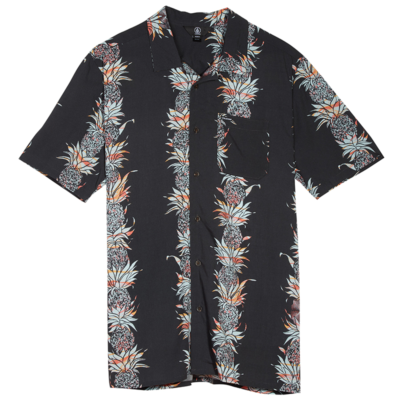 Volcom Palm Glitch Shortsleeve Shirt Stealth