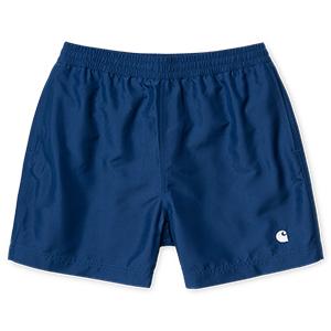 Carhartt Cay Swim Trunk Shorts Sapphire/White