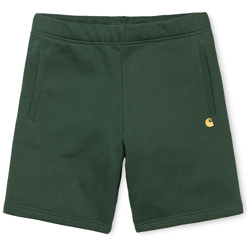 Carhartt Chase Sweat Shorts Loden/Gold