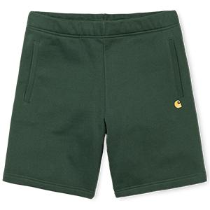 Carhartt Chase Sweat Shorts Loden/Gold