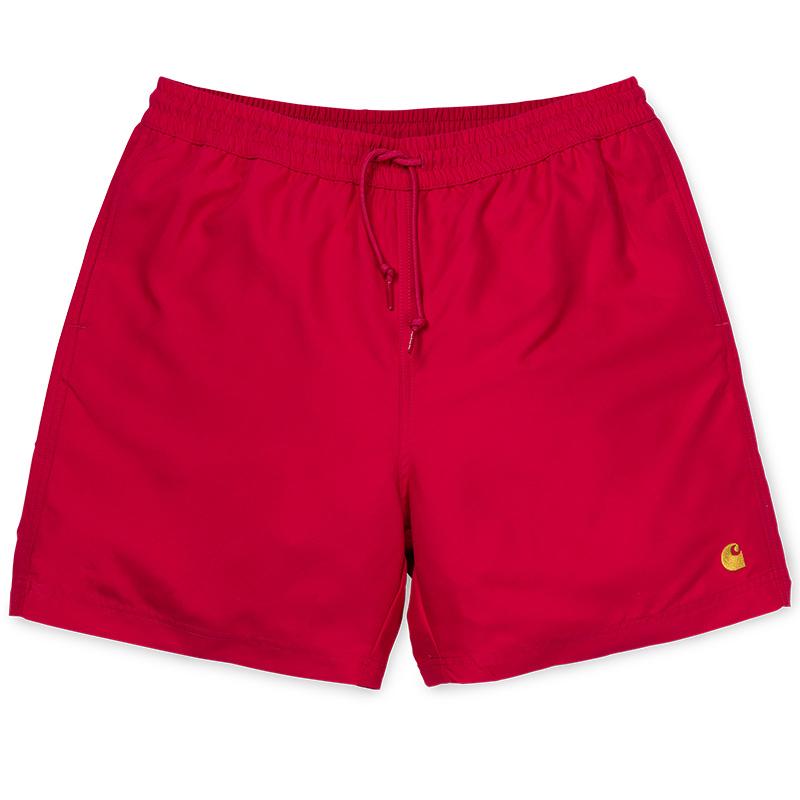 Carhartt Chase Swim Trunk Cardinal/Gold