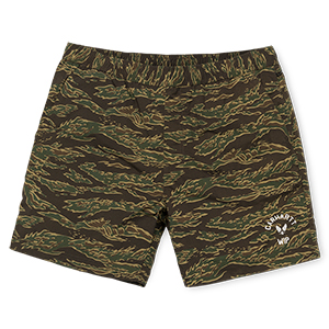 Carhartt Dive Swim Trunk Shorts Camo Tiger/Laurel/White