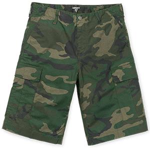 Carhartt Regular Cargo Shorts Camo Combat Green Rinsed