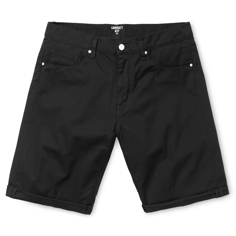 Carhartt Swell Shorts Black Rinsed