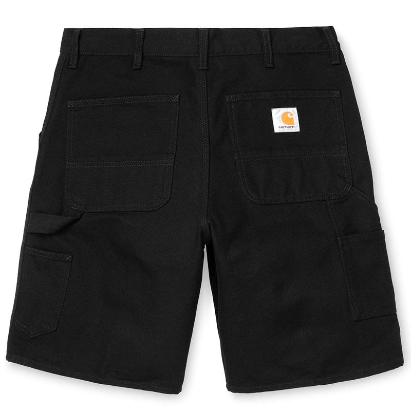 Carhartt WIP Single Knee Short Black Rinsed