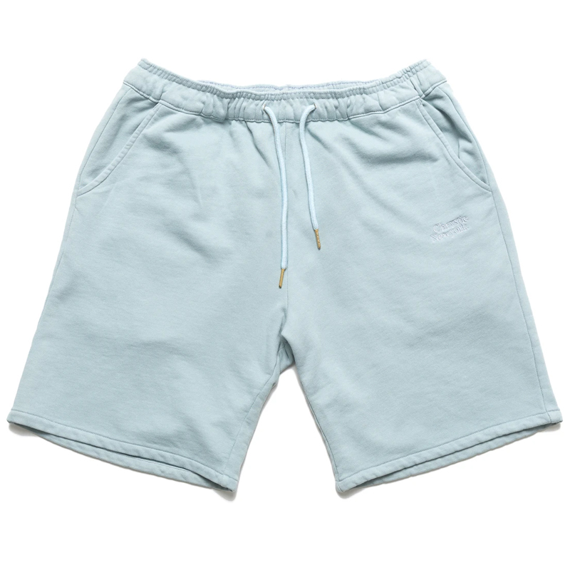 Chrystie NYC Premium Classic Logo Short Sweatpants Stone Blue