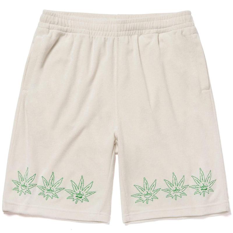 HUF X 420 Green Buddy Terry Cloth Short Natural