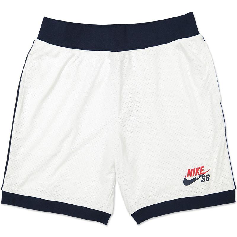Nike SB Court Shorts White/Obsidian/University Red
